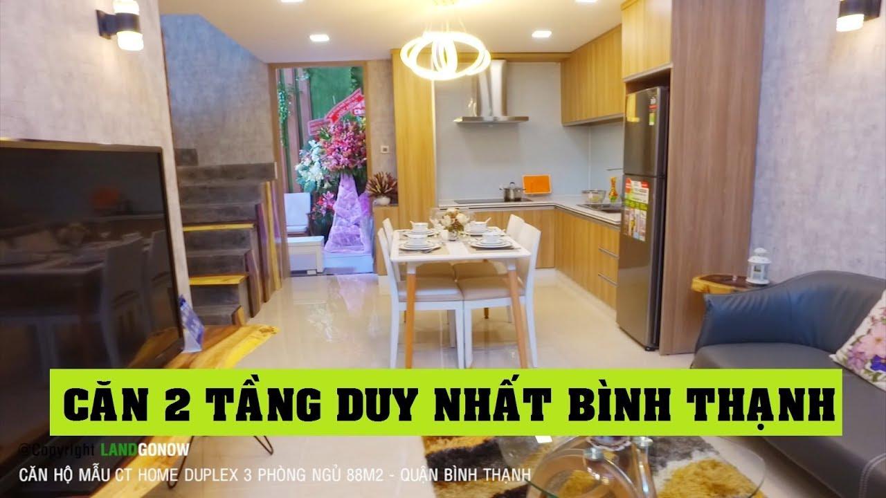 Nhà mẫu CT Home Duplex 88m2 3 phòng ngủ Bình Thạnh - Land Go Now ✔