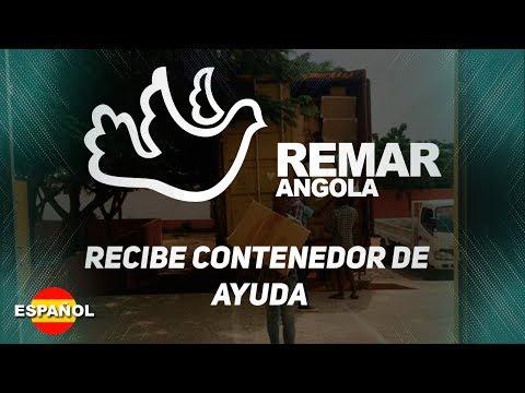 REMAR Angola - Recibe contenedor de ayuda