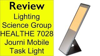 Review Lighting Science Group HEALTHE 7028 Journi Mobile Task Light, Space Grey