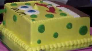 How to Easy Decorating SpongeBob Cake