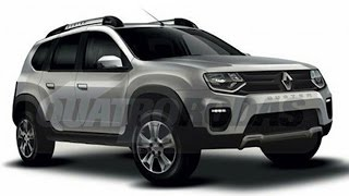 2017 Renault Duster 7 Seater Suv Rendered