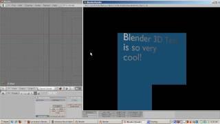 Ira Krakow's Animated 3D Text Blender 2.49b Tutorial