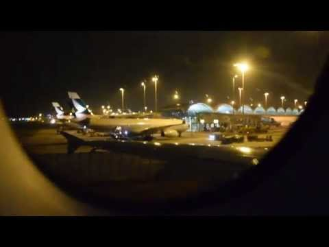 FIRST VIDEO of British Airways A380 G-XLEJ - Takeoff from Hong Kong (HKG) to London (LHR) - BA32