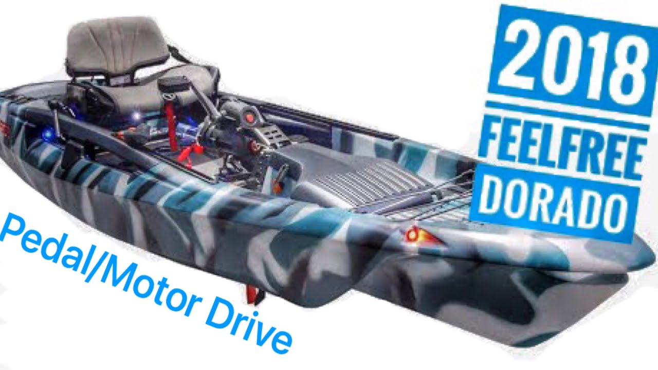 New feelfree dorado kayak with pedal motor system youtube for Fissot fishing kayak for sale