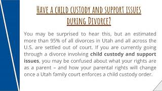 Child custody and Child Support during the divorce process