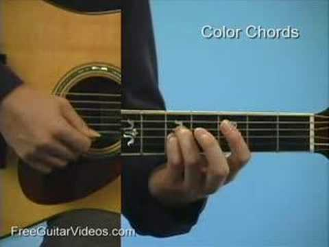 Guitar Lesson Basic Color Chords Youtube