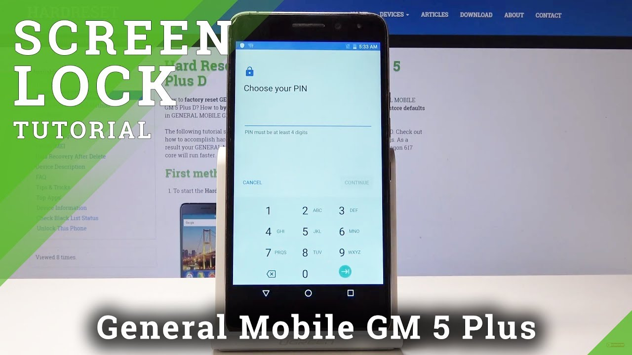 How To Add Lock Screen In General Mobile Gm 5 Plus D Set Up Screen Protection Youtube
