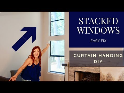 high-ceiling-curtain-ideas-|-extremely-tall-windows-hack-**on-a-budget*