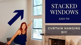 HIGH CEILING Curtain Ideas | Extremely Tall Windows Hack **On A Budget*