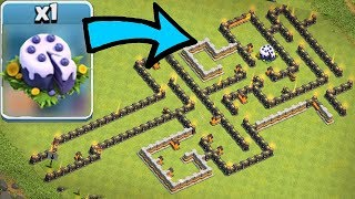 """NEW BLUE CAKE MAZE BASE!! """"Clash Of Clans"""" GOBLINS CAN EAT IT!!"""