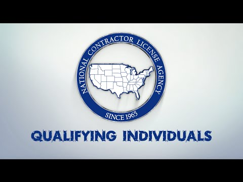 National Contractor License Agency - Qualifying Individuals in the Construction Industry