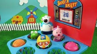 댓글 소통 방송 전에 슈팅 아이스크림과 농구 게임 ❤ 뽀로로 장난감 애니 ❤ Pororo Toy Video
