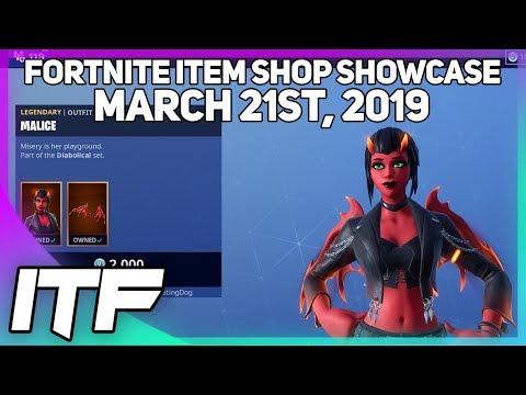 Fortnite Item Shop *NEW* MALICE SKIN!! [March 21st, 2019] (Fortnite Battle Royale)
