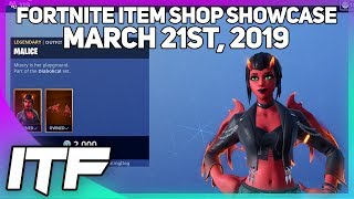 Fortnite Item Shop *NEW* MALICE SKIN!! [March 21st, 2019] (Fortnite Battle Royale)