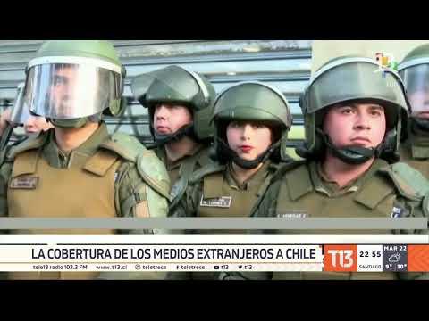 La cobertura de los medios extranjeros de la crisis en Chile