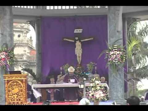 lễ an táng cha Giuse Vũ Văn Đại 13 đền thánh Sa Châu làng Gòi Giao Châu