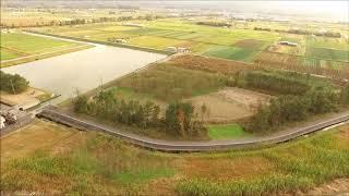 中海干拓揖屋地区上空の動画