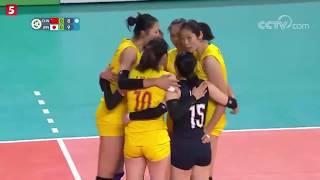 2018年亚运会女排半决赛 中国VS日本第1局