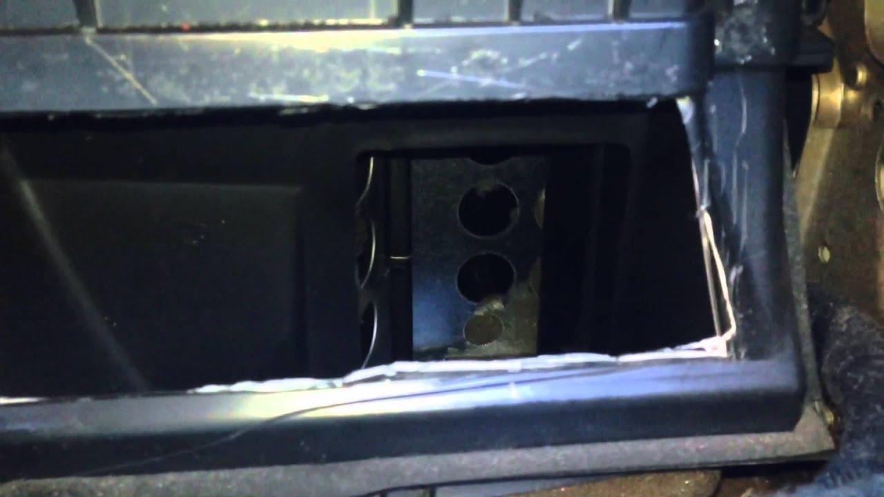 VW New Beetle HVAC box access hack job