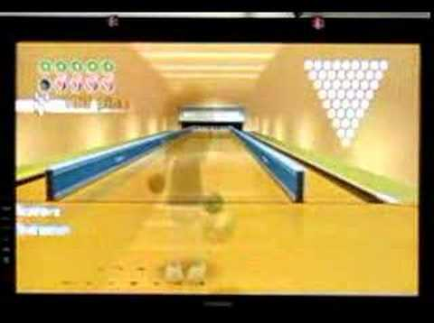 Wii sports bowling power throws