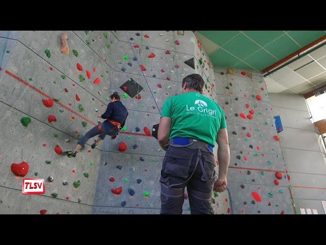 Luçon : les voies du mur d'escalade renouvelées