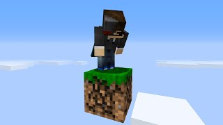 Minecraft Skyblock but you only get 1 block...