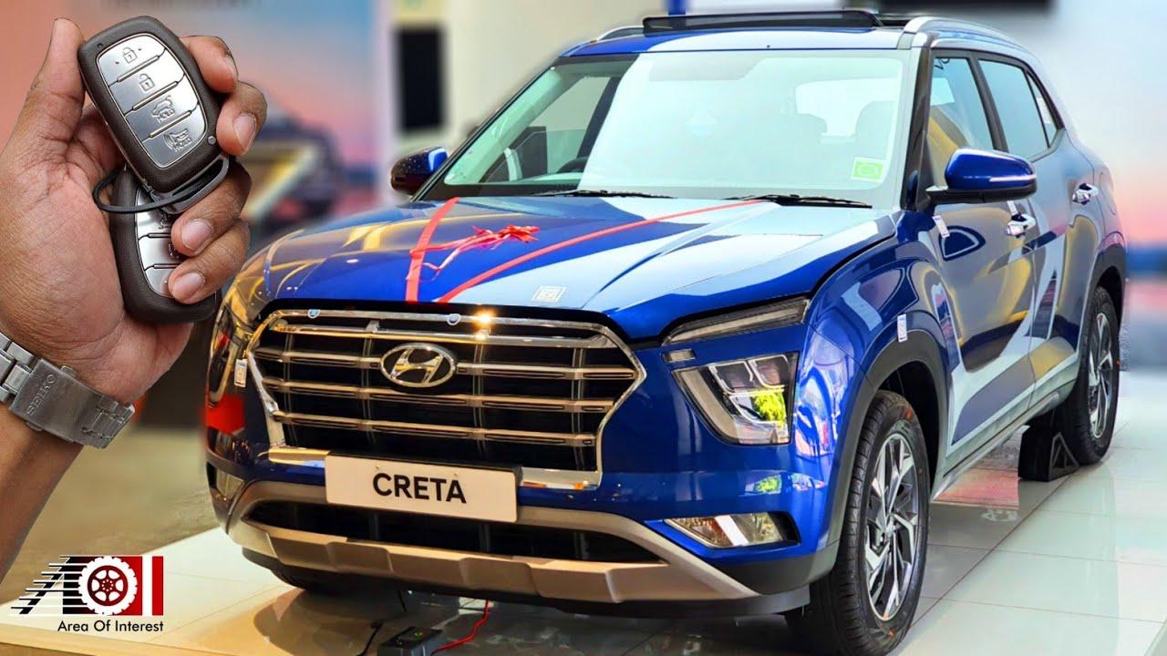 2020 Hyundai Creta Sx O Bs6 Panoramic Sunroof Mileage Interior Features Specs Galaxy Blue Youtube