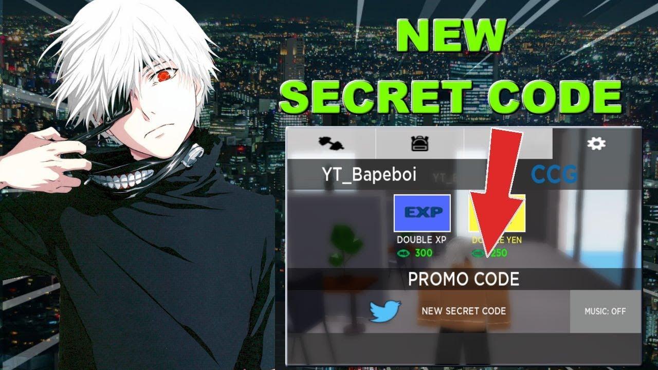New Secret Code Ghouls Bloody Nights Roblox Tokyo Ghoul