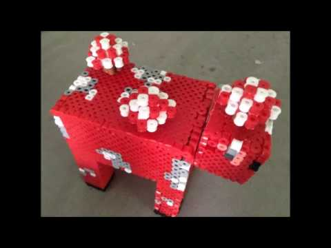 How To Make A Perler/Hama/Artkal Bead Minecraft Mooshroom!
