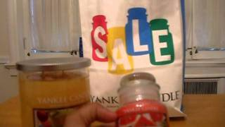 "Haul: Yankee Candle ""jar-normous Sale"""
