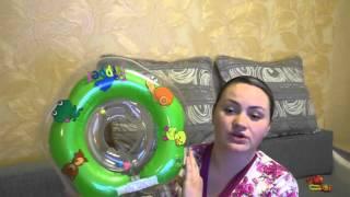 Купание с кругом новорожденного. Обзор. ЦЕНА. Первое купание.