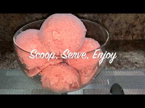 How To Make Strawberry Mango Sherbet Angie's Cooking Creations!