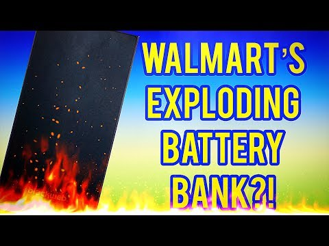 Walmart's Blackweb 10400 MAh Battery Bank Review - MASSIVE RECALL!