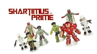 Marvel's Avengers Age of Ultron Minimates Wave 2 Hulkbuster Hulk Vision Movie Toy Figure Review