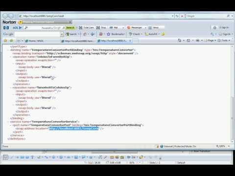 WSDL+XML+XML SCHEMA+XML PARSING