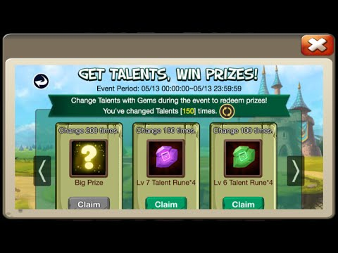 NEW Rewards For Rolling Talents 50,000 Gems Worth 24 Lucky Flips Castle Clash