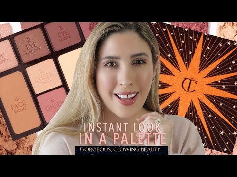 CHARLOTTE TILBURY INSTANT LOOK IN A PALETTE Gorgeous Glowing Beauty | Swatches Review Full Face Eyes