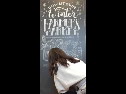 Downtown Winter Farmers' Market Poster Creation Timelapse 2015