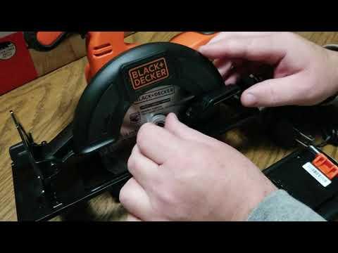 Black and decker circular saw blade installation