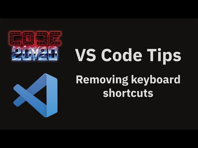 Removing keyboard shortcuts