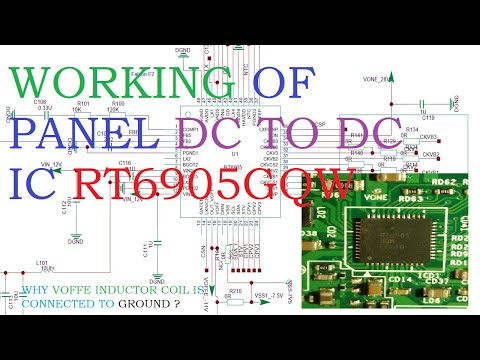 How works panel DC to DC ic RT6905GQW and the generation of Vcom Voltage.