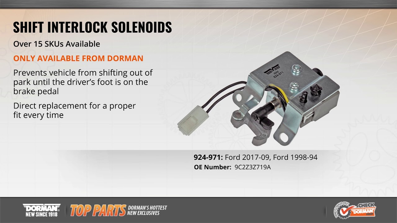 hight resolution of highlighted part shift interlock solenoid for select ford e series models