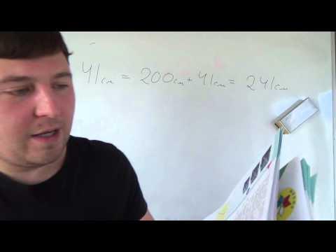 Математика 4 класс. 10 октября. Метры и сантиметры