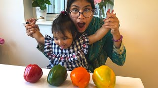Learn Color with Capsicum Vegetables from Ishfi