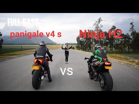 Ducati Panigale V4 S Vs Kawasaki Ninja H2 Drag Race