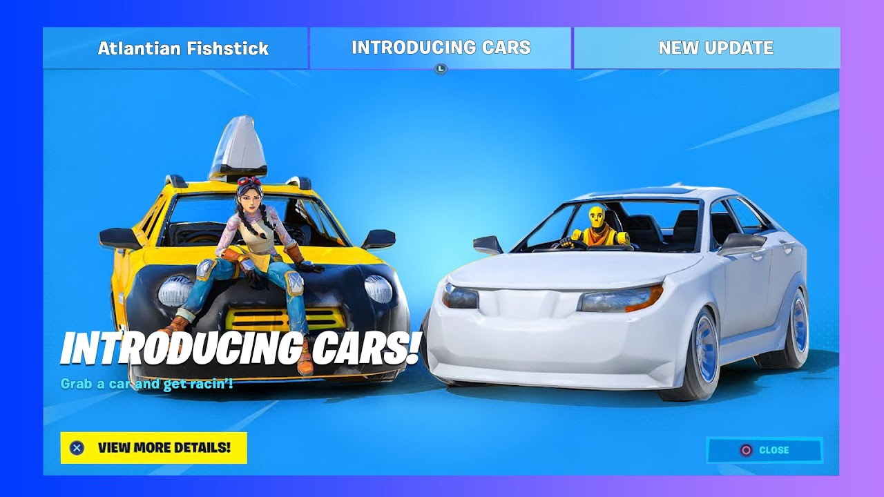 Fortnite Official Cars Update Release Date Leaks News Youtube