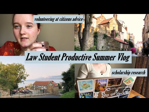 Productive Summer Vlog- Law Student- Volunteering at Citizen
