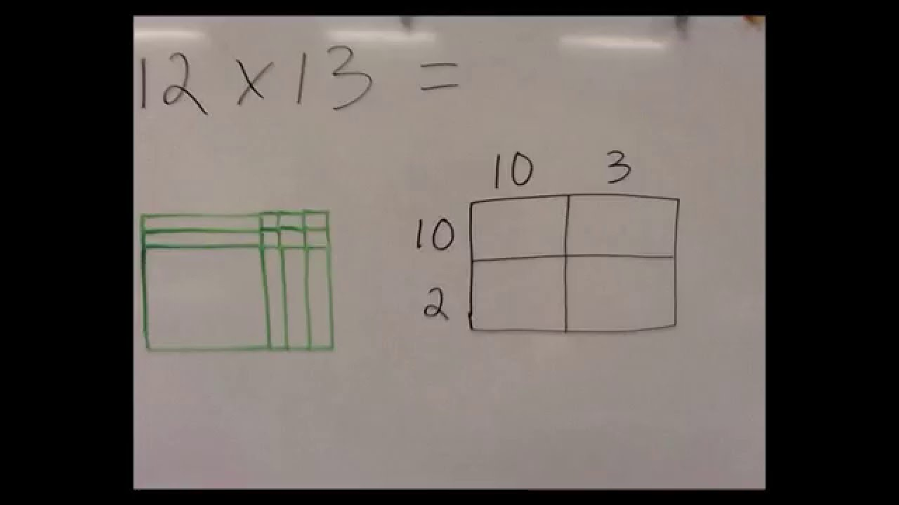 2 x 2 digit multiplication with arrays  common core  part