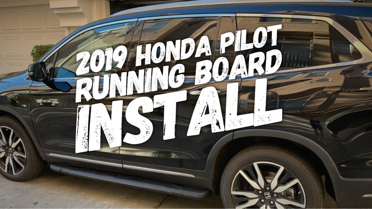 2019 Honda Pilot Oem Black Running Boards Install Diy Youtube