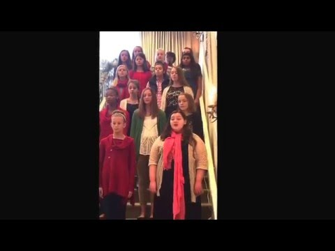 Schilling Farms Middle School Honor Choir performing @ Irene Woods Senior Living  #MaddieMitchell